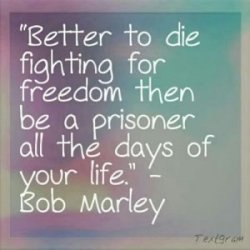There is nothing like the death of freedom to bring hope to its knees