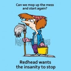 Restrictions, Frustrations and coping with insanity. Let's mop up the mess.