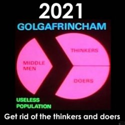 Ruled by Middle Men and eradicating the Thinkers and Doers to take over the world? Is this our future? Welcome to 2021