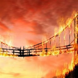 We are burning our bridges while the flood waters rise and there will be no escape to higher ground