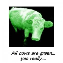 All Trees, Grass and Cows are Green