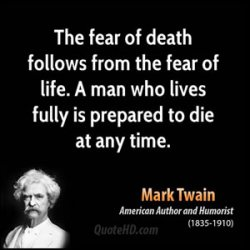 The Taboo of Death and the Fear of Death as tools to overthrow the world.